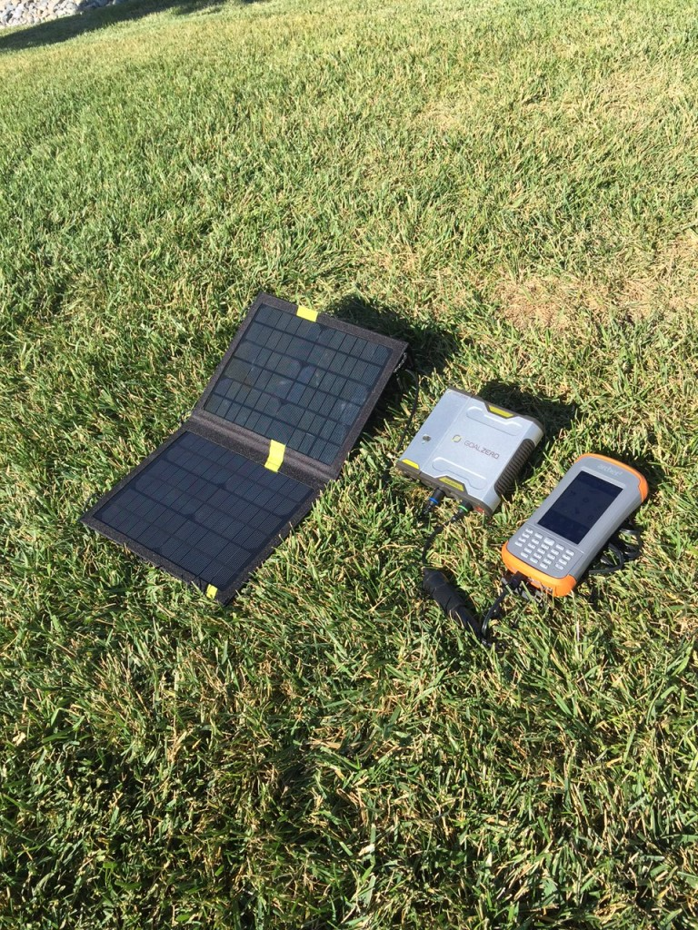 Can't Get to an Outlet? Solar-Charge Your Rugged Handheld