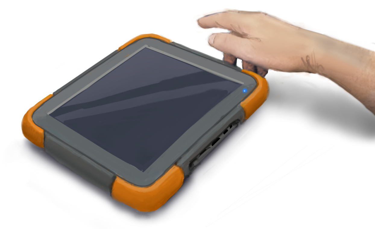Behind the ergonomics of the Mesa 2 Rugged Tablet
