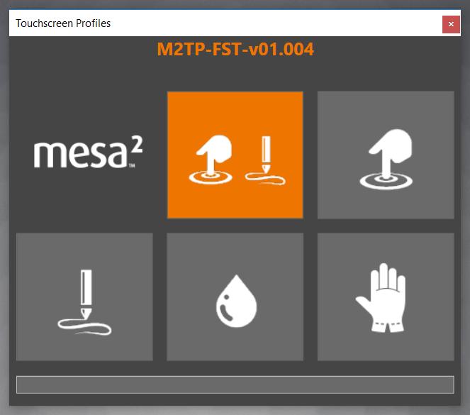 Mesa 2 touchscreen with sun and rain drops