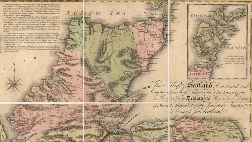 historic map of Scotland