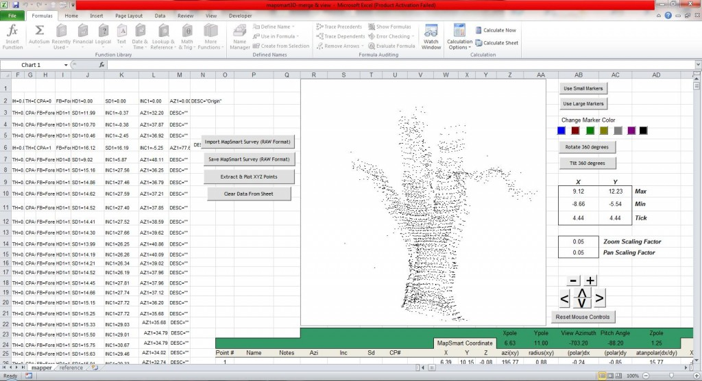 3D surface point cloud of a tree, created after calculating tree height