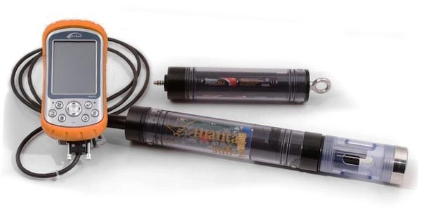Rugged handheld and multiprobe used for testing water quality