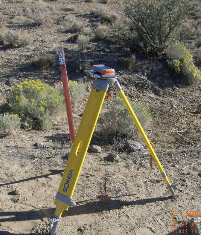 GNSS accuracy testing at USGS survey monument