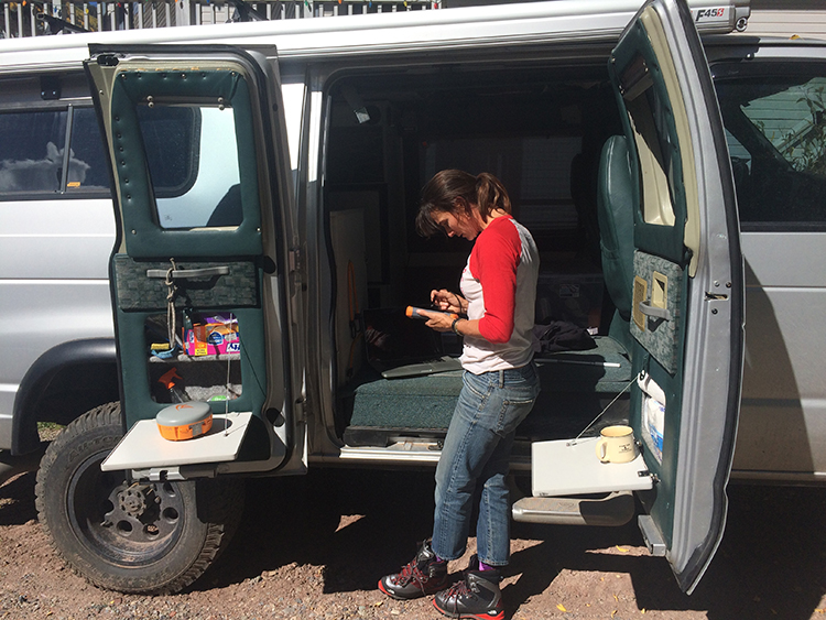Hilary O'Neill learns how to use the Archer 2 to collect highly accurate GPS data. Photo credit: Hilaree O'Neill