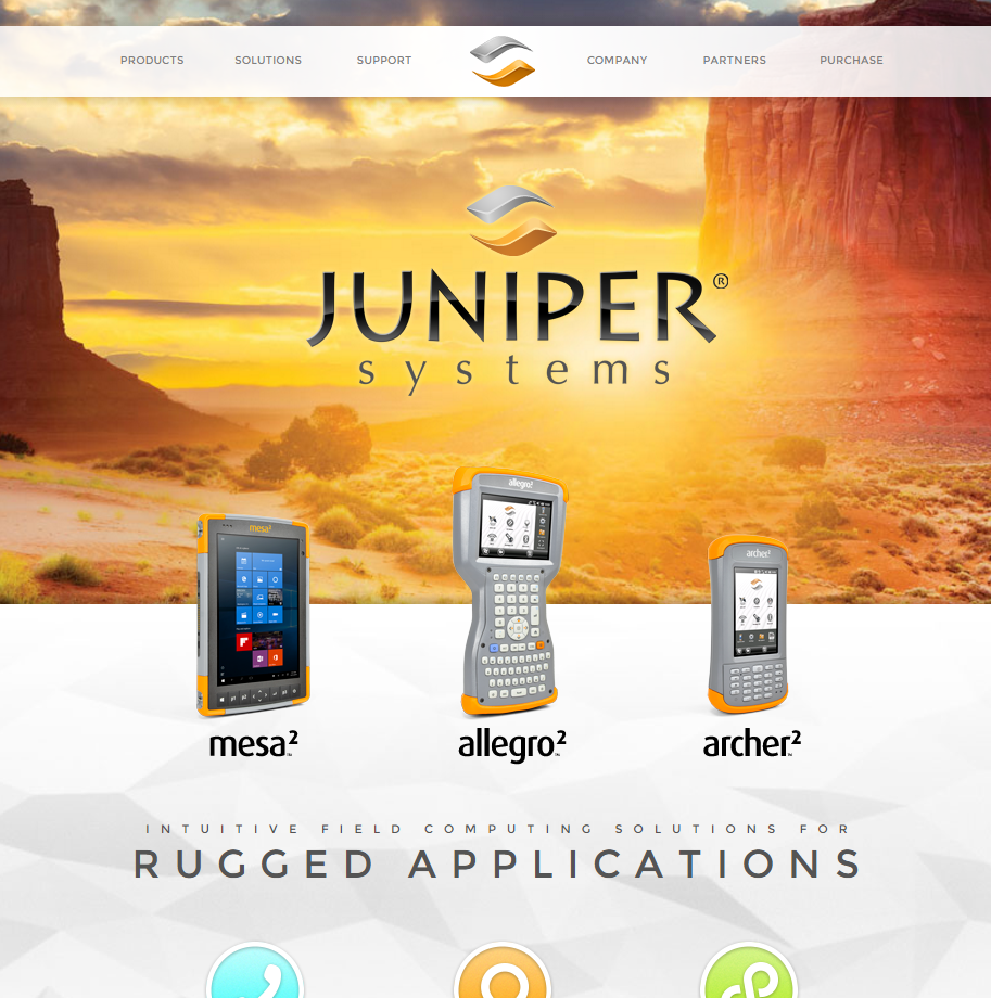 Juniper Systems launches sleek new website