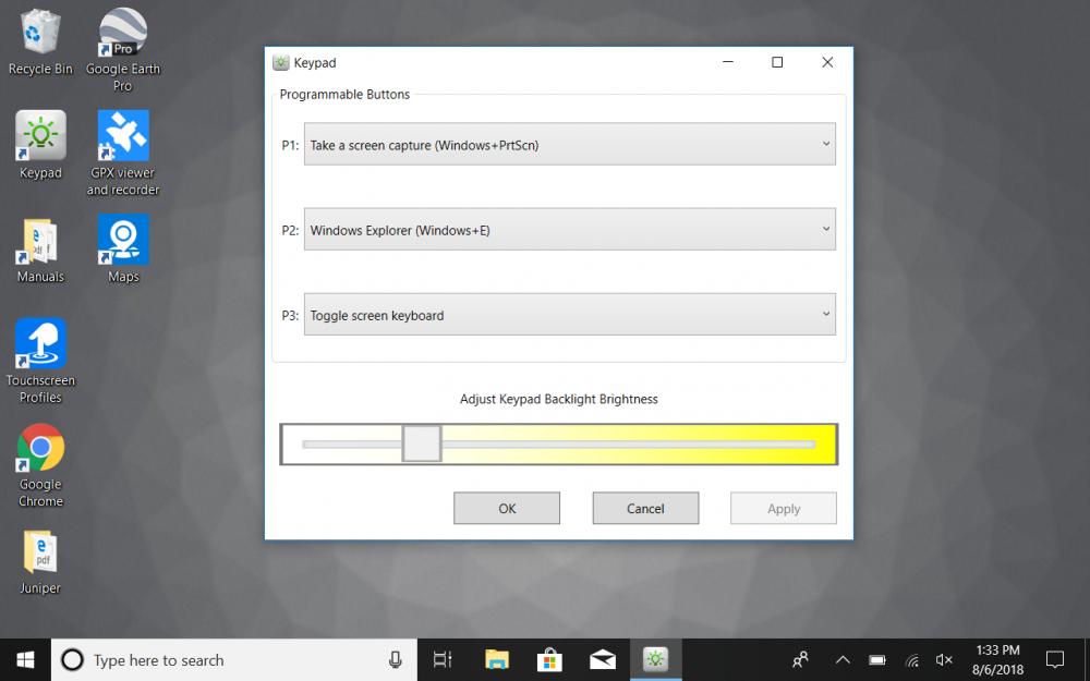 Mesa 2 configurable buttons