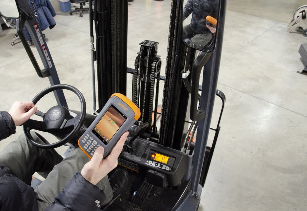 Archer Rugged Mobile Device being used