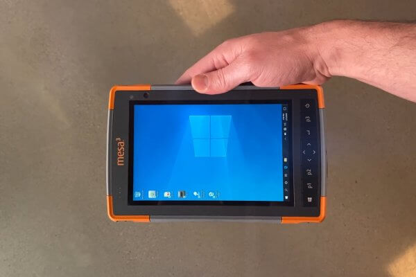 Mesa Rugged Tablet receives display upgrade to include polarizer