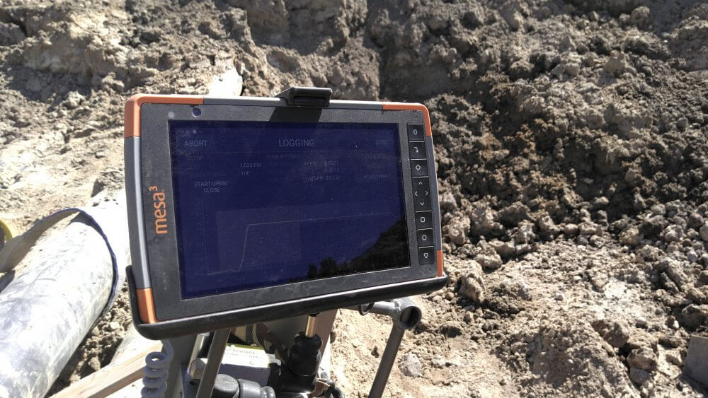 DataLogger 7/Mesa 3 Rugged Tablet on site - photo courtesy of Fusion Technologies, Inc.