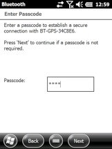 When a passcode is required, the screen will appear with an area to click and enter the passcode.