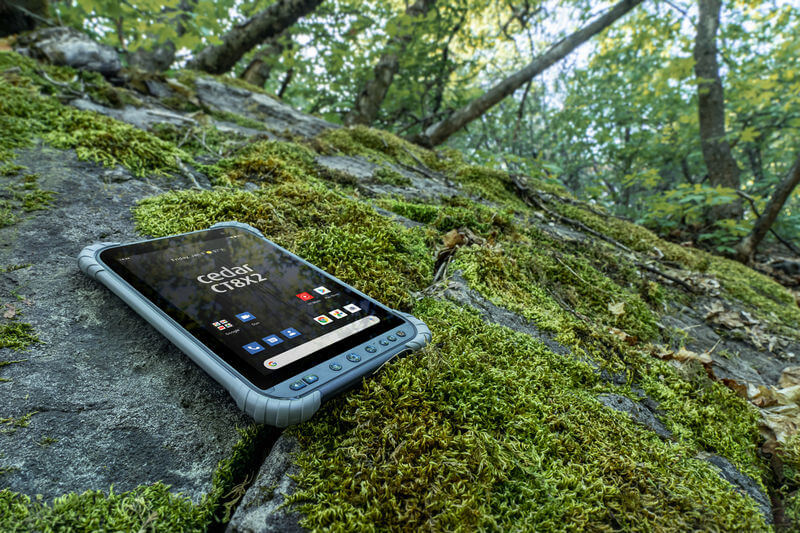 The Cedar CT8X2 Rugged Tablet offers all-day usability in any environment