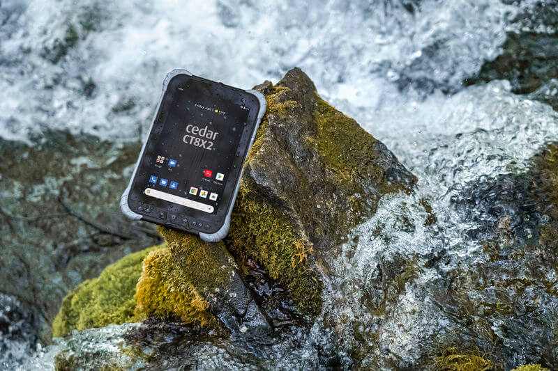 The Cedar CT8X2 offers a step up from consumer tablets in terms of rugged capabilities.
