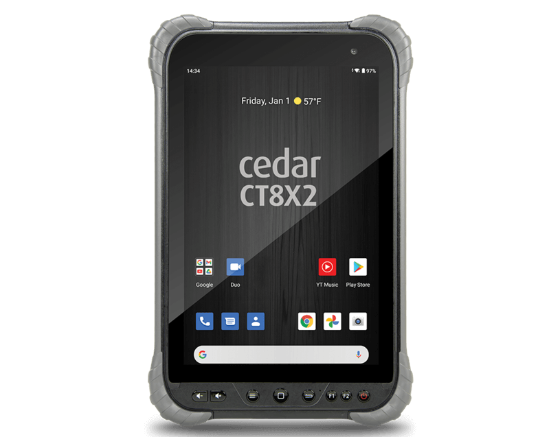 The Cedar CT8X2 running Android 10