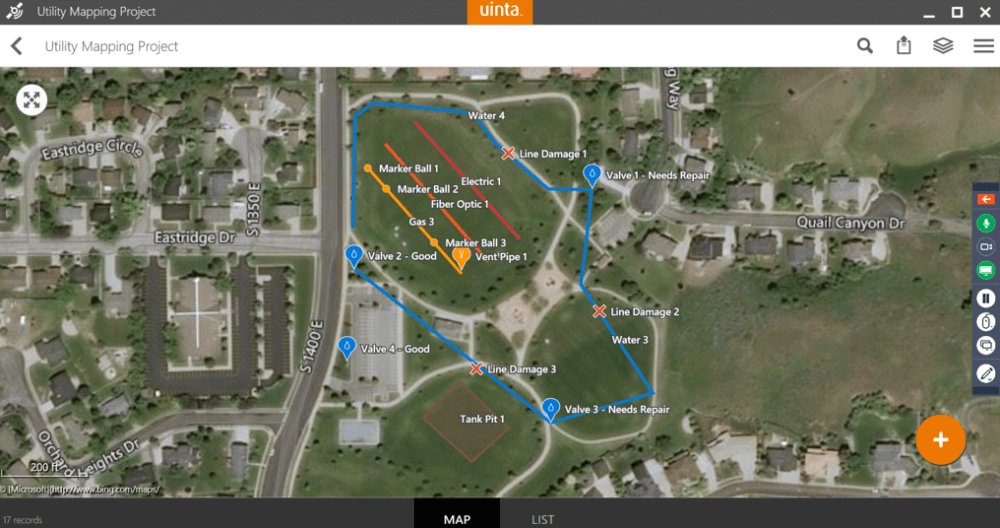 Uinta can easily be customized with templates specific for any type of data collection or mapping