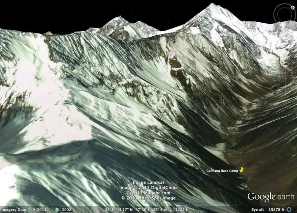Google Earth image of Gamlang Razi